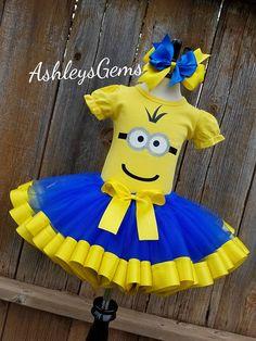 Minion cumpleaños traje traje del súbdito Minion cumpleaños