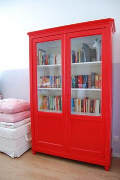 interior design, home decor, furniture, home design ideas house design designs interior design 2012 Modern House Design, Modern Interior Design, Home Design, Design Ideas, Home Decor Furniture, Furniture Makeover, Painted Furniture, Red Cabinets, Old Bookcase