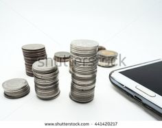 Money with technology - stock photo