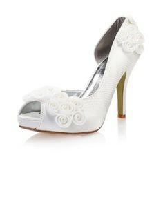 $51.49 - Women's Satin Stiletto Heel Peep Toe Platform Pumps With Imitation Pearl Stitching Lace  http://www.dressfirst.com/Women-S-Satin-Stiletto-Heel-Peep-Toe-Platform-Pumps-With-Imitation-Pearl-Stitching-Lace-047040614-g40614