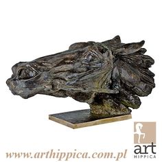 Horse - Sculpture - Bokrzycki Jerzy | Energy – a bronze racehorse's head. It symbolizes horse's energy, effort and fight during the oldest race in Europe – the Great Pardubice Steeplechase (1894). One of the first castings can be found at the racecourse in Pardubice.