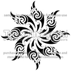 TattooFinder.com: Maori Sun tattoo design by Wiremu Barriball, one of many authentic Maori tattoos by artist from New Zealand