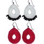 Crochet Spot » Blog Archive » Crochet Pattern: Open Drop Earrings - Crochet Patterns, Tutorials and News