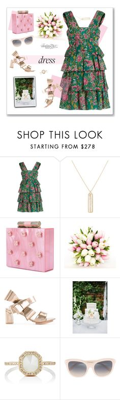 """Dreamy Dress"" by nantucketteabook ❤ liked on Polyvore featuring N°21, Monique Péan, Katherine Kwei, Delpozo, Linda Farrow, Spring, dress, wedding and ruffles"