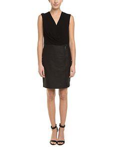 Rue La La — Elie Tahari Drayla Black Raffia Twofer Dress