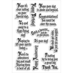 Stampendous Perfectly Clear Stamps Soaring ElementsStampendous Perfectly Clear Stamps Soaring Elements,