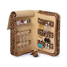 TIP: Remember to keep jewelry safely stored while traveling. We suggest the Reed & Barton Travel-Ready Cheetah Print Jewelry Book.