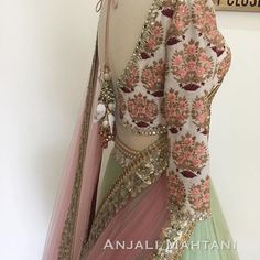 Up-close with the details and embroidery 🌿 - a . Indian Attire, Indian Wear, Indian Dresses, Indian Outfits, Pakistani Dresses, Lehenga Designs, Kurta Designs, Desi Clothes, Indian Clothes