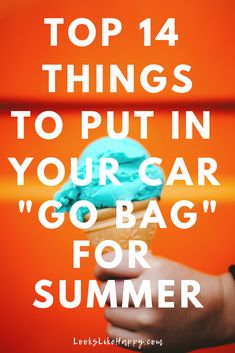 "Top 14 Things to Put in Your Car ""Go Bag"" for Summer - Adventure awaits! Be ready for it!  #summer #organization"