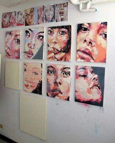 Imagen de art, painting, and face Kunst Inspo, Art Inspo, Pintura Graffiti, Art Sketches, Art Drawings, Drawing Drawing, Kunst Portfolio, Arte Sketchbook, A Level Art Sketchbook