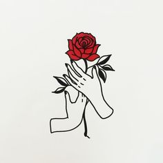 Image result for tumblr rose outline