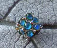 ARKE Dots BHB Lampwork Beads by Cherie Sra R114 Big by happyskull, $25.00