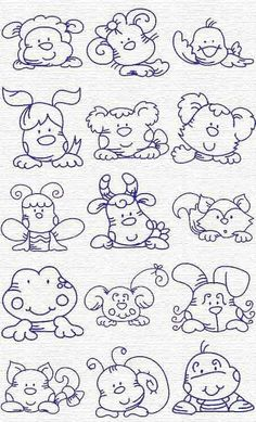 Free Embroidery Designs, Sweet Embroidery, Designs Index Page. This reminds me of the things mom made for me when I was little. animals silly animals animal mashups animal printables majestic animals animals and pets funny hilarious animal Embroidery Designs, Embroidery Applique, Cross Stitch Embroidery, Machine Embroidery, Coloring Book Pages, Cute Drawings, Punch Art, Needlework, Sewing Projects