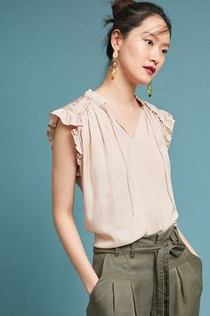 Karakum Tie-Neck Top @anthropologie