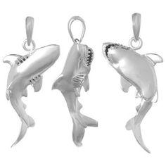 3-D Thrashing Shark Pendant from Gone Coastal Jewelry www.gonecoastaljewelry.com