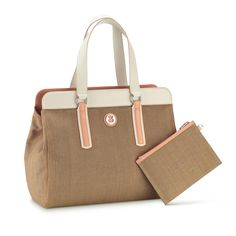 tan purse - TOUS Kimberly Denim collection handbag. Denim combined with ...