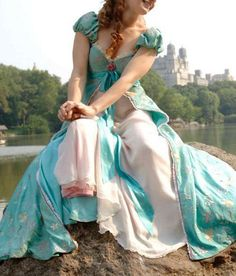 Disney Enchanted Giselle Pastel Curtain Dress Replica - www.thecostumeportal.com