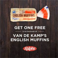 FREE VDK English Muffins at Ralphs on http://www.icravefreebies.com/