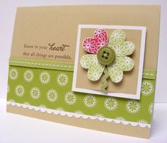 Good Luck Heart Card!  What a great way to make a easy flower!!