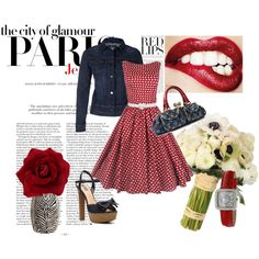 A fashion look from October 2013 featuring red party dresses, denim shoes and man bag. Browse and shop related looks. Bloom, Shoe Bag, Denim, Polyvore, Stuff To Buy, Shopping, Collection, Women, Fashion