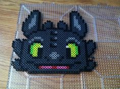 Toothless Perler Beads by Khoriana on deviantART