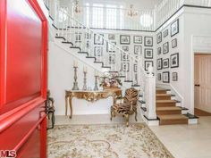 Mariah Carey and Nick Cannon's house. Beautiful stairway. The picture gallery is incredible.