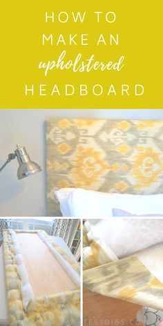 DIY fabric headboardDIY fabric headboard in a bedroom with dark painting.The easy way to make an upholstered DIY headboardHow do I create a # upholstered headboard for my # stylish DIY headboards to Cloth Headboard, Leather Headboard, Diy Upholstered Headboard, Headboard Ideas, Upolstered Headboard, Wood Headboard, Homemade Headboards, Diy Headboards, Do It Yourself Furniture