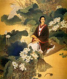 Wang Mei Fang and Zhao Guo Jing. A collection of modern Chinese paintings of women