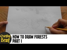 (7) How to Draw Forests - Part 1: Fantasy Map Making Tutorial for D&D - YouTube