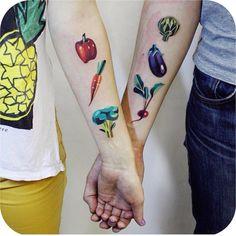 New beautiful tattoos by Sasha Unisex True love! Chef Tattoo, 1 Tattoo, Get A Tattoo, Tattoo Shop, Tattoo Fails, Pair Tattoos, Love Tattoos, Beautiful Tattoos, New Tattoos