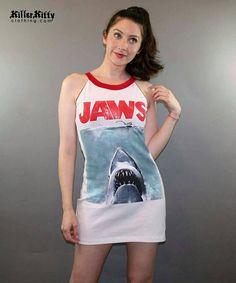 Jaws Tank Top Dress Summer Horror Movie Shark Week T Shirt