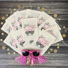 Our hangover recovery bags are def a must have for any bachelorette!! Checkout these adorable REGRET NOTHING survival bags!