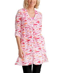 Look what I found on #zulily! White Lake Fish Far Away Tunic #zulilyfinds $25