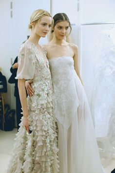 lavandula: daria strokous and kati nescher backstage at valentino haute couture spring/summer 2013 Best Wedding Dresses, Designer Wedding Dresses, Wedding Gowns, Bridesmaid Dresses, Backless Wedding, Tulle Wedding, Unique Dresses, Elegant Wedding, Couture Fashion