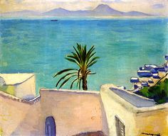 Sidi Bou Said, Palm Tree / Albert Marquet - circa 1923