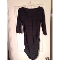 Charcoal Grey Dress Gray Dress with Ruching at the sides. Express Dresses