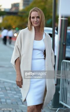 Uma Thurman is seen around Spring 2016 New York Fashion Week: The Shows - Day 2 on September 11, 2015 in New York City.