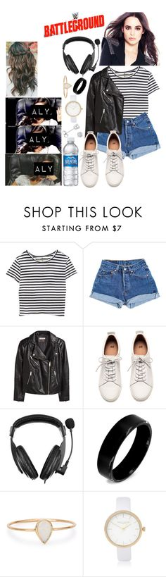 """""""♚Alyssa Monroe♚ On commentary for the battleground main event"""" by kimberly34 ❤ liked on Polyvore featuring Enza Costa, Levi's, H&M, WWE, Insten, West Coast Jewelry, Catbird, River Island and Amanda Rose Collection"""