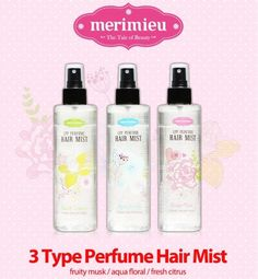Merimieu Perfume Hair Mist 250 ml 3 Type Natural Styling & Haircare Long Lasting #merimeiu