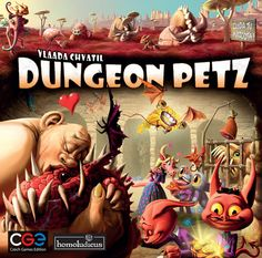 Z-Man Games Dungeon Petz in Board Games. Cage, Man Games, Win Or Lose, Game Logo, Tabletop Games, Magic The Gathering, Pet Store, Box Art, Board Games