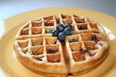 Blueberry Heaven Wheat Pancakes/waffles Waffle Recipes, Ww Recipes, Cooking Recipes, Cooking Kids, Fluffy Waffles, Pancakes And Waffles, What's For Breakfast, Healthy Breakfast Recipes, School Breakfast
