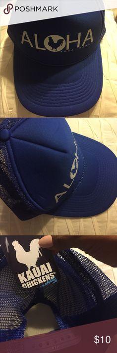 Kauai Aloha Trucker Hat Straight from Hawaii . Royal blue brand spankin new Accessories Hats