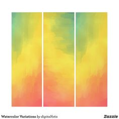 Shop Watercolor Variations Triptych created by digitalfotis. Triptych, Single Image, Contemporary, Modern, Vibrant, Auction, Museum, Watercolor, Create