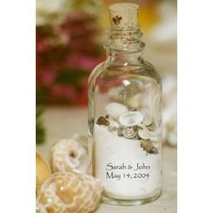 beach themed ornament favors | ... favor the sand shell bottle favors are perfect beach wedding favors