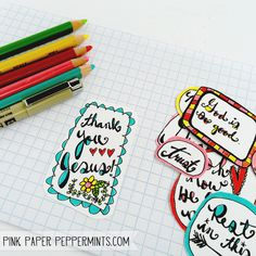 Free Bible Art Journaling Printables and Tutorials - The Ultimate List! | Pink Paper Peppermints Sweet ♥ Crafty ♥ Goodness | Bloglovin'