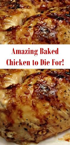 The Best Baked Chicken to Die For!-The Best Baked Chicken to Die For! The Best Baked Chicken to Die For! Baked Chicken Recipes, Meat Recipes, Cooking Recipes, Recipies, Amazing Chicken Recipes, Tasty Dinner Recipes, Healthy Recipes, Turkey Dishes, Turkey Meals