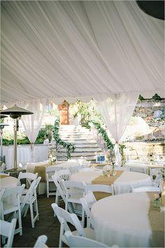 wedding tent reception ideas