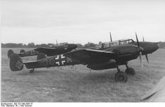 Bf 110 aircraft belonging to Oberleutnant Hans-Karl Kamp, commanding officer of German Night Fighter Squadron 4, France, summer 1942