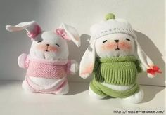 """<input class=""""jpibfi"""" type=""""hidden"""" >Easter is around the corner! Let's make some Easter toys for kids. Here is a fun DIY project to make an adorable sock bunny. It's very easy to make. All you need is just a few pairs of old socks,… Sock Bunny, Bunny Toys, Bunnies, Sock Crafts, Diy Crafts, Bunny Crafts, Cool Diy Projects, Sewing Projects, Diy Kawaii"""