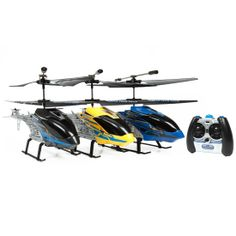 World Tech Toys Rex Hercules 2CH RTF IR RC Helicopter 3 Pack Bundle